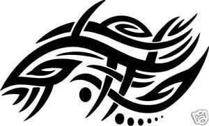 Car Hood Decal Graphics Small Tribal Design Squeegee