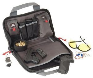 GPS Wild About Shooting Double Pistol Case Visual Storage System Black GPS1308PC