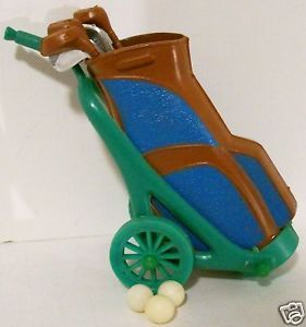 1960's Golf Bag Clubs Birthday Cake Topper Decoration