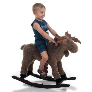 Happy Trails Plush Rocking Max Moose Great for Kids 3 4