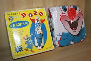 Classic Bozo The Clown 46 inch 3D Bop Punching Bag Kids Fun Toy 2002 New