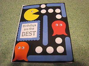 Stampin Up Card Handmade Happy Birthday Pac Man Greeting Card