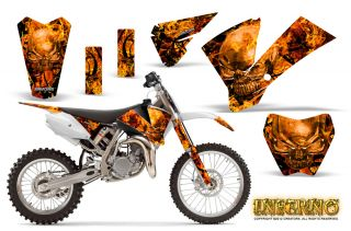 KTM SX85 SX105 2004 2005 Graphics Kit Decals Inferno WB