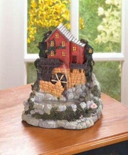 Old Mill Cottage Water Wheel Tabletop Fountain