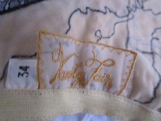 Vintage 50's Vanity Fair 24K Gold Brief Panties Bra Nylon Lace Mint
