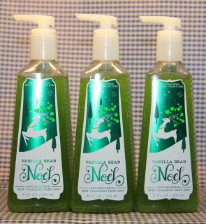 3 Bath Body Works Vanilla Bean Noel Antibacterial Deep Cleansing Hand Soap