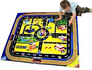 New Kids Giant City Playmat Floor Play Mat for Toy Cars Road Railway Train Track