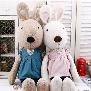 "Le Sucre V Neck 26"" Stuffed Plush x mas Giftl Rabbit Bunny Toy Doll Kids"