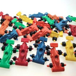 20 New Mix Racing Car Plastic Vintage Toy Solid Color Formula Cake Topper Kid