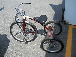 RARE Huge Mint Chrome Siebert Tricycle Bike Excellent Condition Kids Toy Antique
