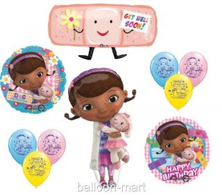 Doc McStuffins Birthday Party Supplies Decoration Balloons Girls Get Well XL Set