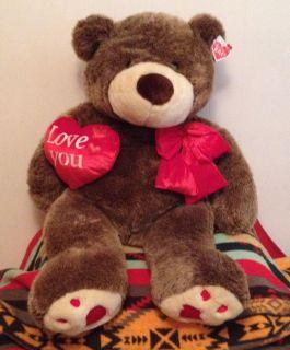 "38"" Giant Brown Teddy Bear Stuffed Animal Kids Adult Valentine's Day"