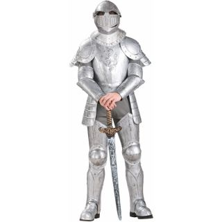 Knight in Shining Armor Adult Costume Knight Camelot Medieval Knight in Shining