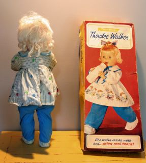 1964 Horsman Thirstee Walker Irene Szor Design Original Outfit w Bottle in Box