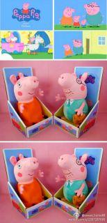 2 Large 12 inch Peppa Pig Daddy Mummy Pig Plush Kids Baby Soft Bear Doll Toy