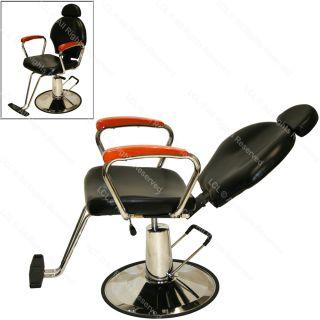Black Ceramic Shampoo Bowl Sink Hydraulic Reclining Barber Chair Salon Equipment