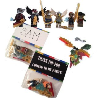 12 Lego Legends of Chima Figures Birthday Party Favor Bags Tags