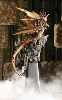 Metallic Medieval Dragon Ruler Statue Figurine