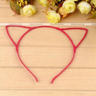 Chic Women Lady Girls Cat Ears Beads Alloy Headband Hair Band Photo Prop Party