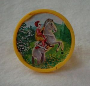 1979 Ronald McDonald Riding A Horse Plastic Ring Happy Meal Kids Toy Vintage
