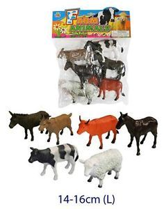 6 Pcs Farm Animals Toy Set Figurines Pretend Play Kids Children Prsechool