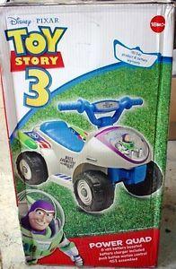 New in Box Kids Disney Toy Story Buzz Lightyear Power Quad ATV Wheels