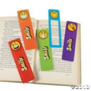 24 Smile Happy Face Bookmarks Kids Birthday Party Favors Gifts Stationary Toys