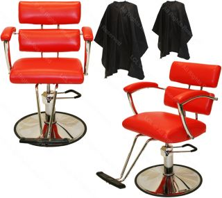2 Professional Red Hydraulic Barber Chair Styling Hair Beauty Salon Equipment