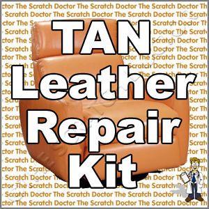 Tan Leather Repair Kit Sofa Chair Burns Scuffs Holes