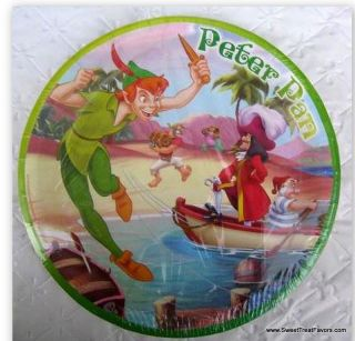 Peter Pan Tinkerbell Party Plates x6 Supplies Birthday Fairy Decoration Cake New