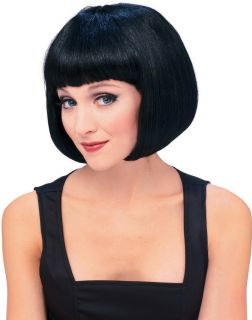 Sexy Wigs Short Black Bob Flapper Adult Snow White Wig