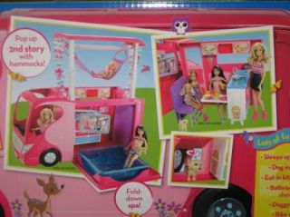 New Barbie Sisters Go Camping camper RV 4 Dolls Barbie Stacie Skipper Chelsea