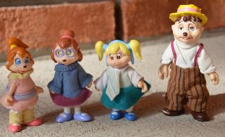 Complete Vintage Alvin Chipmunks Chipettes Poseable Brittany Jeanette Eleanor