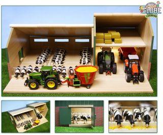 Wooden Model Toy Farm Stable Buildings Kids Globe 1 32 Wood Farmyard Toys