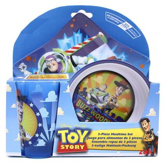 Dining Gift Set 5 PC Star Plate Bowl Cup Spoon Fork Toy Story Buzz Woody New
