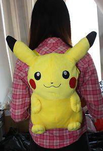 "Pokemon Anime Pikachu Plush Doll Backpack 18"" Bag Plush Toy Kid Bag Xmas Gift"