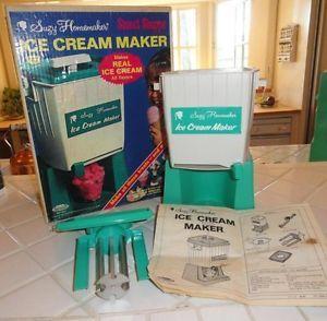 Vtg Topper Toys 1960's Suzy Homemaker Ice Cream Maker in Box Excellent Cond