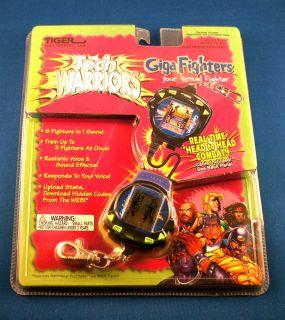 Tiger Electronic Giga Pet Handheld Tech Warriors Fighter Virtual Toy Kids 1990s
