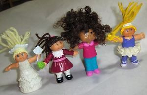 Cabbage Patch Kids Girls Doll Lot McDonalds Toy PVC Figures CPK Angel Christmas