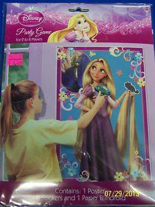 Tangled Disney Princess Rapunzel Movie Kids Birthday Party Pin The Frog Game
