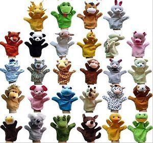 New Cute Children Zoo Farm Animal Hand Sock Glove Puppet Finger Sack Plush Toy