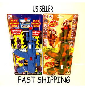 M 16 Assault Rifle Hand Machine Gun Kids Toy Police or Military Army Soldier Ba