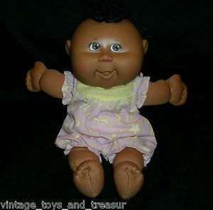Cabbage Patch Kids CPK Doll African American Stuffed Animal Plush Toy Cute Dress
