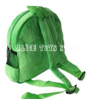 Super Mario Brothers Green Luigi Kids Backpack School Bag Plush Toy New