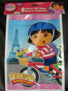 8 Dora Birthday Party Supply Favors Goody Loot Treat Sack Gifts Bags NIP