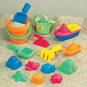 Toddlers Kids Sand Beach Water Fun Play Assorted Toy Set 15 Pieces