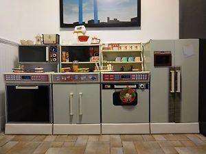 Vintage Childs Kitchen Set Pots Pans Miniature Revere Ware Toys Kids Box