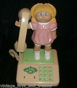 Vintage 1984 Cabbage Patch Kids Doll CPK Telephone Coleco Home Phone Big Cord