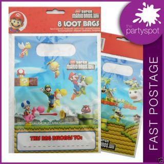 8 x Super Mario Bros Party Loot Bags