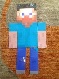 Pin The Head on The Stevie Minecraft Party Game About 3 Feet Tall Steve